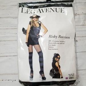 Women's Risky Raccoon Halloween Costume